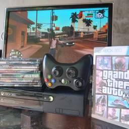 Xbox ultra slim,Valor 550 se buscar 469,Ta Desblo,1 contr e jogos