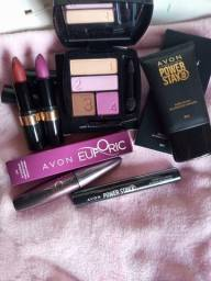 Kit completo de maquiagem Avon.
