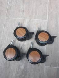 4 rodinhas original box maxflex 7,5cm diametro com freio