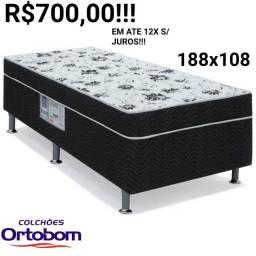 Título do anúncio: BIG OFERTA!!!CAMA CONJULGADA ORTOBOM SOLTEIRÃO!!!!188X108!!!