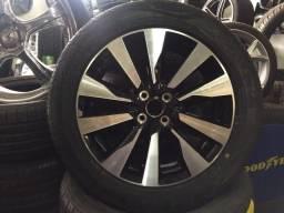 Roda Nissan Kicks aro 17 original + Pneu DELINTE D7 215/50/17 novos