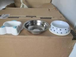 Kit 3 Pratinhos Inox e Plásticos - Ótimos