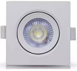 Título do anúncio: Spot Led 3w Quadrado Direcionavel Branco Frio ou Quente - Mega Iluminação