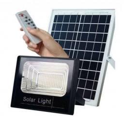 Kit refletor led 100w + placa solar ip 66 comprar usado  Rio de Janeiro