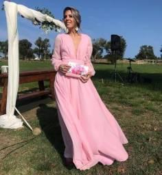 Vestido rosa cha