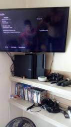 Ps3 + tv 32 led aoc+ 20 jogos. + ps move