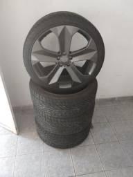 Rodas aro 22 furação 5x114 semi nova com pneus novos