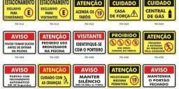 Placas para sinalização condomínios e ruas
