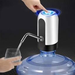 Bebedouro Bomba Elétrica Para Garrafão Automática Galão Água Recarregável Led + Cabo Usb
