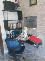 Linda Home Office da Etna (estante 5 prateleiras e escrivaninha conjugada) MDF de 1ª linha