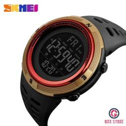 Relógio Masculino Skmei 1251 Red Gold Digital Original Prova D'Água (Frete Grátis)