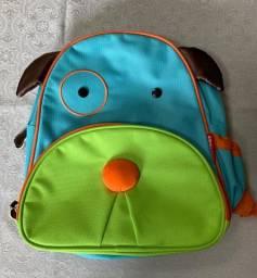 Lindo Kit Skip Hop Zoo Cachorro: mochila com lancheira térmica