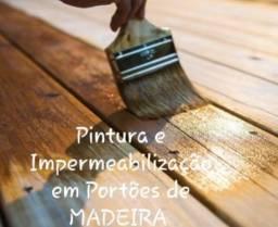 Pintura e Impermeabilização em Portões de MADEIRA