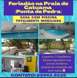 Casa de Praia com Piscina em Catuama (Ponta de Pedras)