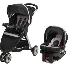 Carrinho e bebê conforto Graco Fastaction Fold Sport Click Connect Travel System