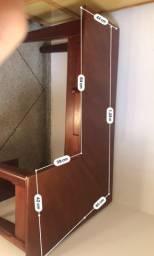Mesa de computador de madeira pura