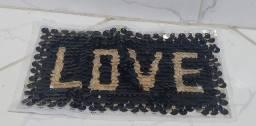 Título do anúncio: Aplique LOVE em paetê