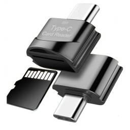 Leitor de Cartão de Memória TF P/ USB Tipo C