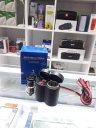 Carregador para moto USB e cinzeiro