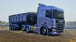 Caminhão Scania R450 + Carreta Caçamba Nova 2020