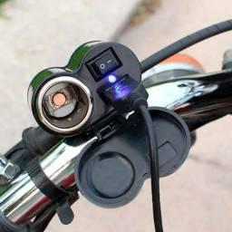 Carregador isqueiro portátil pra moto Novo $30