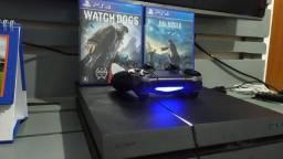 Ps4  500gb NUNCA MEXIDO  + dualshock 4 + Watch Dogs+ Jogo   = Aceito cartão<br><br>