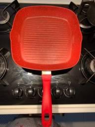 Título do anúncio: Panela Flavorstone Original Grill Pan Vermelha