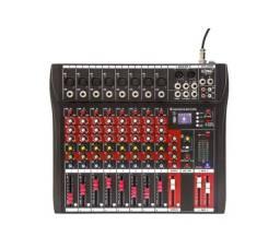 Mesa De Som Bluetooth Usb Mixer Mp3 Player Digital 8 Canais