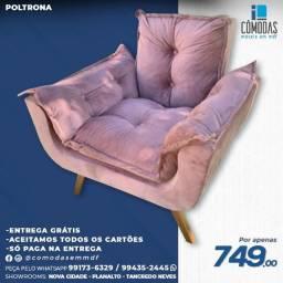 Título do anúncio: Poltrona Rosa - Linda e Confortável