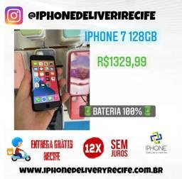 IPhone 7 128gb Preto (12 x Sem Juros ) Entrega Grátis Recife