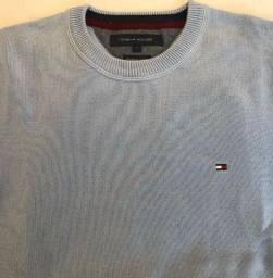 Título do anúncio: Blusão Tommy Hilfiger azul claro modelo premium cotton