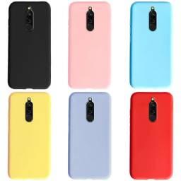 Pronta Entrega Capa Case Anti Shock Xiaomi Redmi 8 Tranparente e Colorida