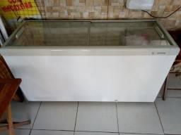 Freezer horizontal 2 tampas vidro