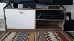 Rack de TV de madeira