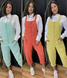 macacao moda feminina em crepe