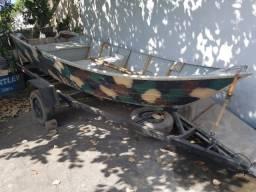 Barco de aluminio + motor