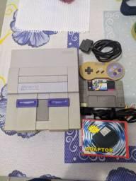 Super Nintendo com Mário world