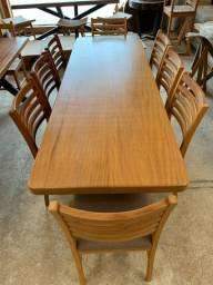 Conjunto Mesa + Cadeiras Estofadas Peroba Mica