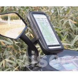 Suporte De Celular Gps Para Motos Capa Prova D'agua 15x8 Cm A12