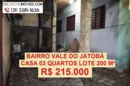 Título do anúncio: Casa no bairro Vale do Jatobá, região do Barreiro, BH  Lote 200 m²