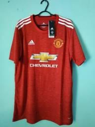 Camisa do Manchester United Vermelha Masculina 2020/21 - Em Estoque