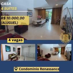 Sampaio Aluga belíssima casa condomínio (Renaissance) 317m2. 4 suítes