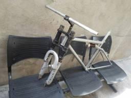 Vendo quadro de bike aro 26 com garfo suspensão de moto