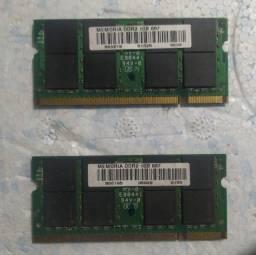 Título do anúncio: Memória DDR2 1GB 667
