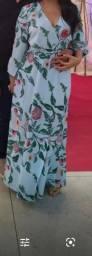 Vestido longo estampado patbo