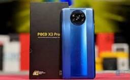 Promoção Mes Dos Namorados Poco X3 Pro Preto/Azul/Dourado 6+128GB