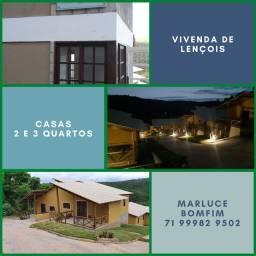 Lençóis , Excelente! Casas de 2/4, 78 m² e 3/4 98 m²