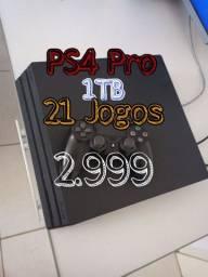 PS4 PRO + 21 Jogos
