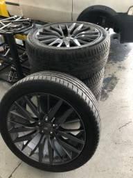 Jogo de rodas Land Rover 22 com pneus