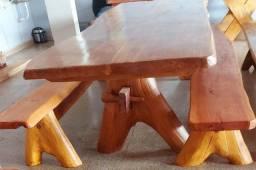 Mesas de madeira de lei mesmo - as melhores rústicas da região - menor preço